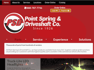 Point Spring & Driveshaft